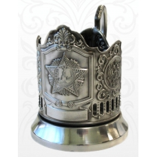 Подстаканник черненый Звезда (Орден Победы) Герб РФ