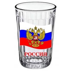 Стакан граненый Герб России