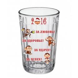 Стакан граненый С Новым годом! (обезьяна)