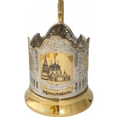 Подстаканник позолота Ярославль Храм (лазер)