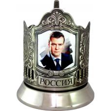 Подстаканник черненый сублимация (Медведев) [С-05ч]