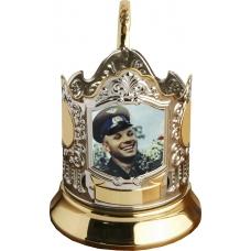 Подстаканник позолоченный сублимация (Гагарин 1) [С-09ч]