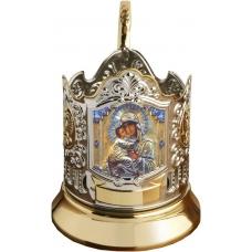 Подстаканник позолоченный сублимация Богородица