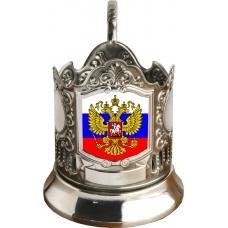 Подстаканник черненый сублимация (флаг / герб)[С-03ч]