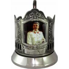 Подстаканник черненый сублимация (Сталин) [С-08ч]