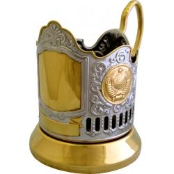 Подстаканник позолота обезличенный с гербами СССР